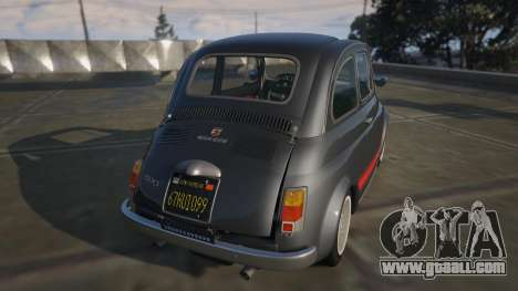 GTA 5 Fiat Abarth 595ss Street ver rear left side view