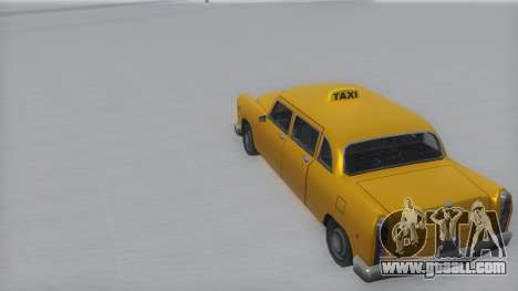 Cabbie Winter IVF for GTA San Andreas back left view
