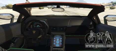Lamborghini Centenario LP 770-4 Roadster for GTA 5