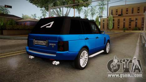 Range Rover 2008 for GTA San Andreas left view
