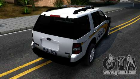 Ford Explorer Metro Police 2009 for GTA San Andreas back left view
