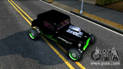 Green Flame Hotknife Race Car for GTA San Andreas right view