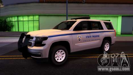 2015 Chevy Tahoe San Andreas State Trooper for GTA San Andreas back view
