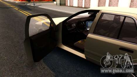 Ford Crown Victoria Unmarked 2009 for GTA San Andreas inner view