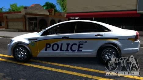 Chevy Caprice Metro Police 2013 for GTA San Andreas left view