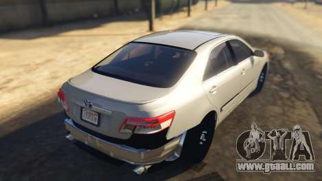GTA 5 Toyota Camry 2011 DoN DoN Edition rear left side view