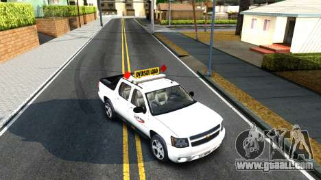 2007 Chevy Avalanche - Pilot Car for GTA San Andreas back view