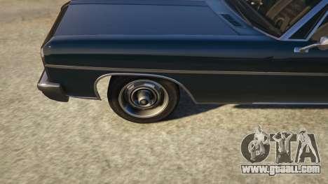 GTA 5 TLAD Regina Sedan back view