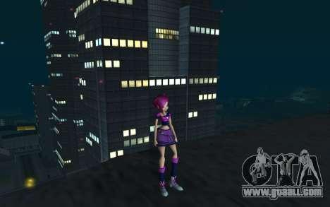 Tecna Rock Outfit from Winx Club Rockstars for GTA San Andreas