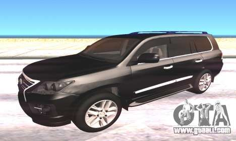 Lexus LX570 for GTA San Andreas left view