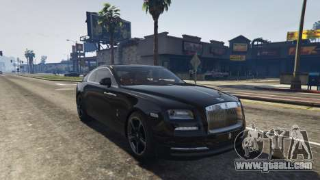 GTA 5 Rolls-Royce Wraith 2015 back view