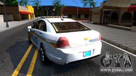 Chevy Caprice Metro Police 2013 for GTA San Andreas back left view