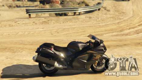 GTA 5 Suzuki Hayabusa GSX1300 2015 left side view