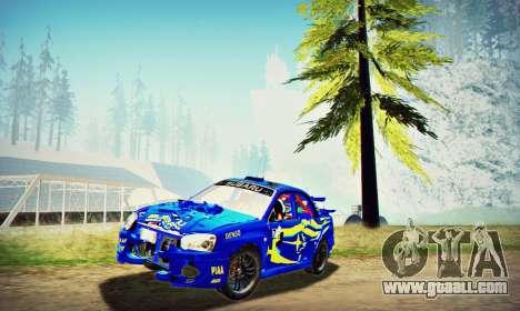 Subaru Impreza WRX STI WRC Rally 2005 for GTA San Andreas side view