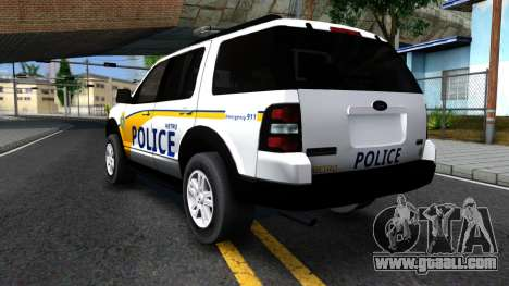 Ford Explorer Metro Police 2009 for GTA San Andreas back view