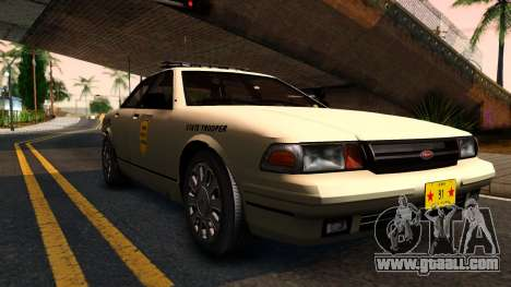 Brute Stanier 2009 Iowa State Patrol for GTA San Andreas left view