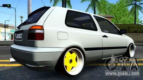 Volkswagen Golf 3 Low for GTA San Andreas left view