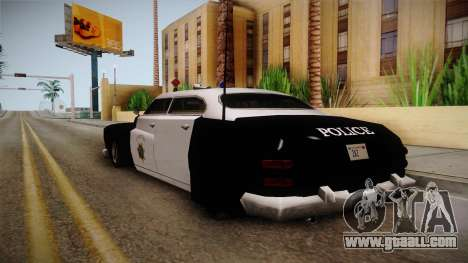Hermes Classic Police Las Venturas for GTA San Andreas back left view
