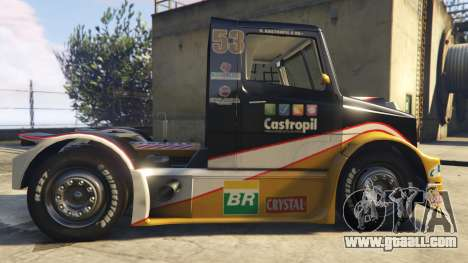 GTA 5 Ftruck Mercedes L Series v2 left side view