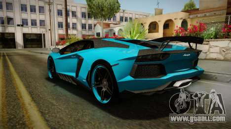 Lamborghini Aventador Itasha Rias Gremory for GTA San Andreas right view