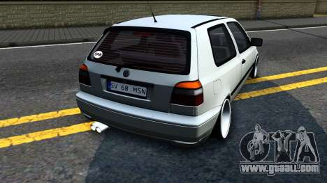 Volkswagen Golf 3 Low for GTA San Andreas right view