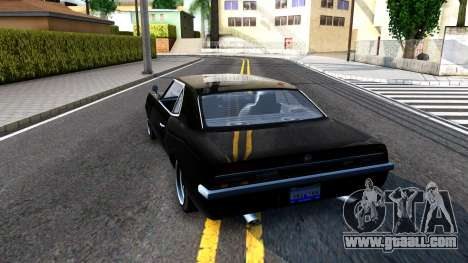 GTA V Declasse Vigero for GTA San Andreas back left view