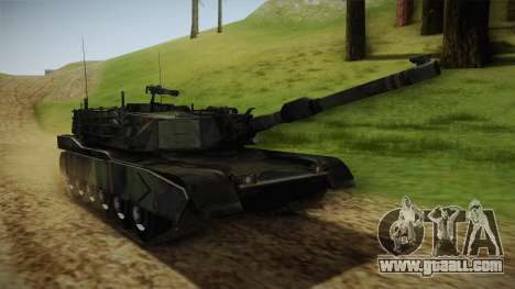 Abrams Tank Woolant Camo for GTA San Andreas right view