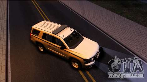 2015 Chevy Tahoe San Andreas State Trooper for GTA San Andreas bottom view