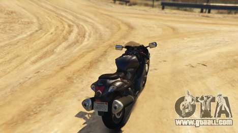 GTA 5 Suzuki Hayabusa GSX1300 2015 rear left side view