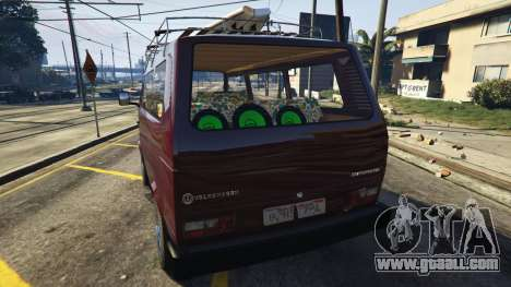 GTA 5 Volkswagen Transporter T3 (1979) rear left side view