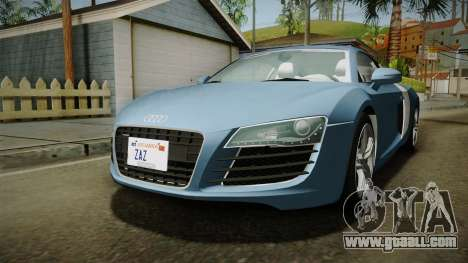 Audi R8 Coupe 4.2 FSI quattro EU-Spec 2008 YCH for GTA San Andreas right view