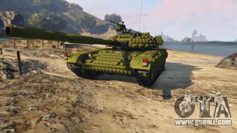 GTA 5 Tank T-72 back view