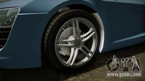 Audi R8 Coupe 4.2 FSI quattro EU-Spec 2008 YCH for GTA San Andreas back view