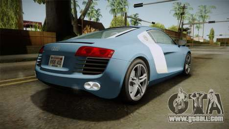 Audi R8 Coupe 4.2 FSI quattro EU-Spec 2008 YCH for GTA San Andreas left view