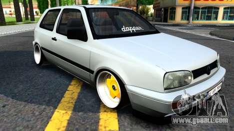 Volkswagen Golf 3 Low for GTA San Andreas