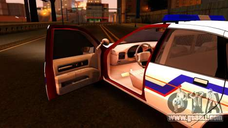 Chevy Caprice Hometown Police 1996 for GTA San Andreas inner view