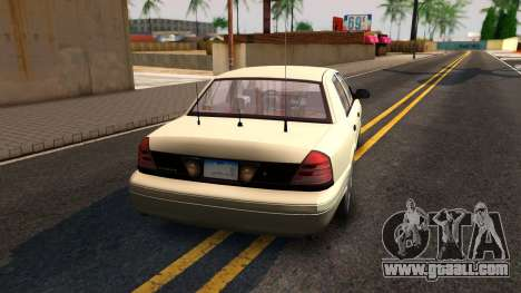 Ford Crown Victoria Unmarked 2009 for GTA San Andreas left view