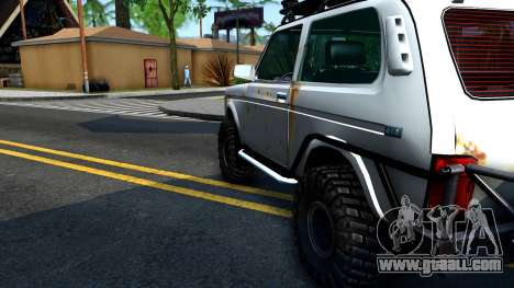 Lada Niva 4x4 Off Road for GTA San Andreas inner view