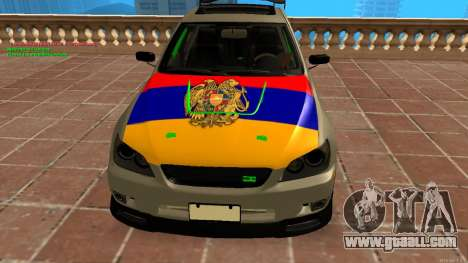 Toyota Altezza Armenian for GTA San Andreas back left view