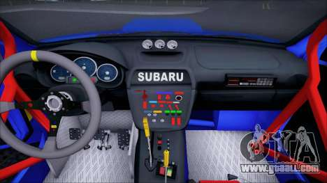 Subaru Impreza WRX STI WRC Rally 2005 for GTA San Andreas inner view