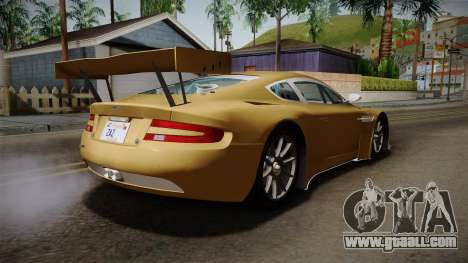 Aston Martin Racing DBRS9 GT3 2006 v1.0.6 YCH for GTA San Andreas back left view
