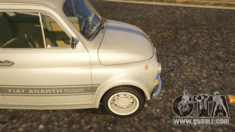 GTA 5 Fiat Abarth 595ss Street ver rear right side view