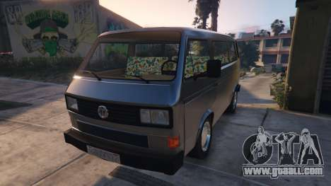 GTA 5 Volkswagen Caravelle T3 (1983) rear right side view