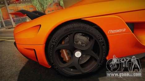 Koenigsegg Regera 2016 Bonus for GTA San Andreas inner view