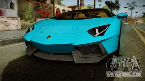 Lamborghini Aventador Itasha Rias Gremory for GTA San Andreas side view