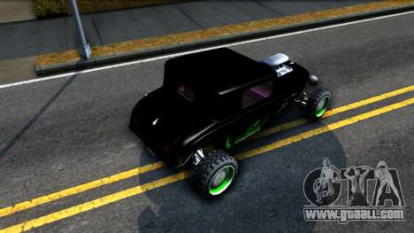 Green Flame Hotknife Race Car for GTA San Andreas back view