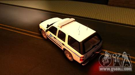 2004 Chevy Tahoe State Wildlife for GTA San Andreas right view