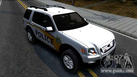 Ford Explorer Metro Police 2009 for GTA San Andreas right view