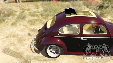 GTA 5 Volkswagen Beetle rear right side view