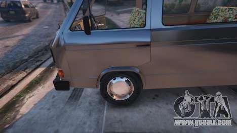GTA 5 Volkswagen Caravelle T3 (1983) back view